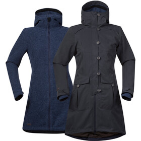 Bergans Bjerke 3in1 Coat Dame solid charcoal/night blue